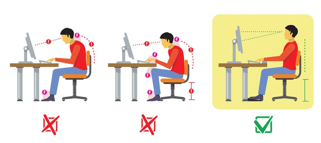 Posture au bureau : la vision de l'ostéopathe